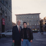 With Eugene Rousseau in Florence (Firenze, 1994)
